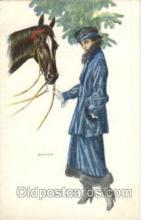 hor001104 - Artist Signed Bianchi Horse Postcard Postcards
