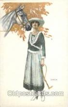 hor001105 - Artist Signed Bianchi Horse Postcard Postcards