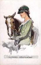 hor001107 - Artist Signed Barribal Horse Postcard Postcards