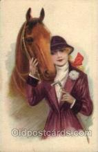 hor001108 - Artist Signed unknown, Horse Postcard Postcards