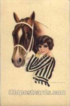 hor001110 - Artist Signed Nanni Horse Postcard Postcards