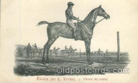 hor001158 - C. Vernet Horse Horses, Postcard Postcards