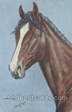 hor001214 - Artist LH Dude Larson Horse Postcard Postcards