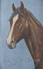 hor001215 - Artist LH Dude Larson Horse Postcard Postcards