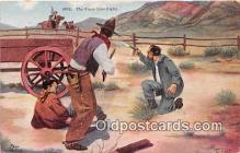 hor001386 - Fence Line Fight 1913 Postcard Post Card