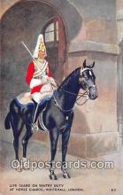 hor001455 - Sentry Duty, Horse Guard Whitehall, London Postcard Post Card