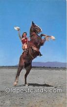 hor001503 - Yippee Ride 'em Cowgirl Postcard Post Card