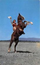 hor001519 - Yippee Ride 'em Cowgirl Postcard Post Card