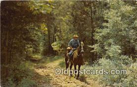 hor001722 - Natchez Trace Parkway Horseman, Nashville, Tennessee Postcards Post Cards Old Vintage Antique