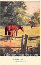 hor001729 - Summer Pastures Cedric Chater Postcards Post Cards Old Vintage Antique