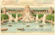 htl000004 - St Louis, Mo. USA Worlds Fair,Hold to Light Postcard Postcards