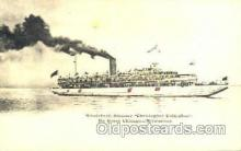 htl000048 - Whaleback Steamer Hold to Light Postcard Postcards
