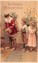 htl001015 - Hold To Light Santa Claus Postcard Post Cards Old Vintage Antique