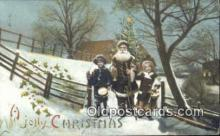 htl001018 - Hold To Light Santa Claus Postcard Post Cards Old Vintage Antique