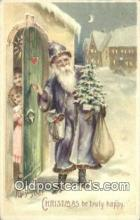 htl001021 - Hold To Light Santa Claus Postcard Post Cards Old Vintage Antique