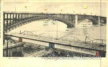 htl003001 - The Eads Bridge, St. Louis, MO Hold to Light Postcard Postcards