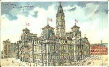 htl004006 - City Hall, Philadelphia, PA Hold to Light Postcard Postcards