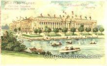 htl005006 - Palace of Education Hold to Light Postcard Postcards