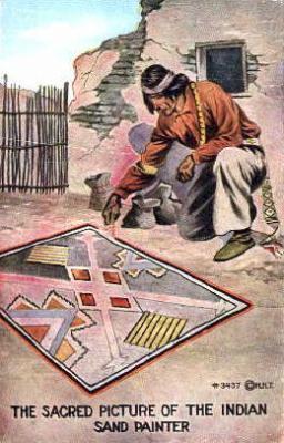 ind000303 - Indian, Indians Postcard Postcards