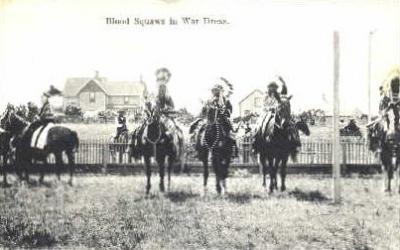 Blood Squaws in war dress