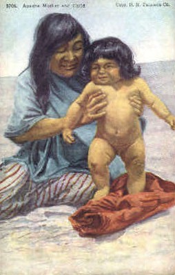 Apache mother & Child