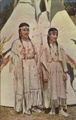 ind000479 - Western Indian Maidens Indian, Indians Postcard Postcards