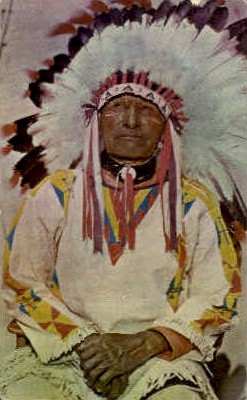 ind000696 - Western Chief Indian, Indians, Postcard Postcards