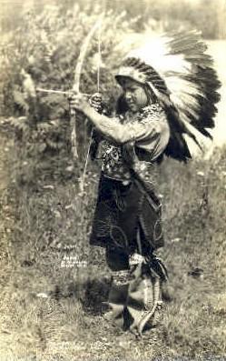 ind100008 - Menominee Indian Boy at Rainbow Falls, Antigo Wisconsin, USA Real Photo Indian, Indians, Postcard Postcards