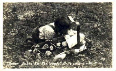 ind100021 - Mills Lacs Lake Minn. USA, Real Photo Indian, Indians, Postcard Postcards