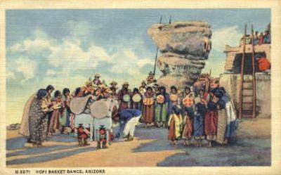 ind200118 - Hopi Basket Dance, Arizona, USA Indian Postcard Post Cards