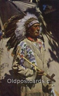 ind200207 - Chief Running Horse Indian Postcard, Post Card