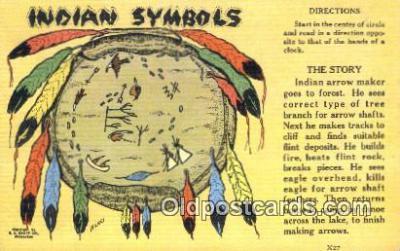 ind200401 - Indian Symbols Indian Postcard, Post Card