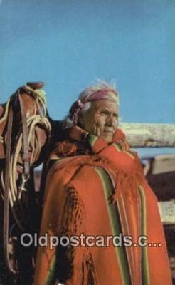 ind200499 - Navajo Patriarch Indian Postcard, Post Card