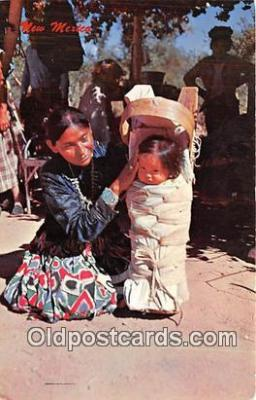 Navajo Woman with Cradle Board & Baby