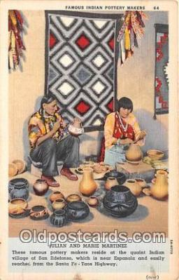Indian Pottery Makers, Julian & Marie Martinez