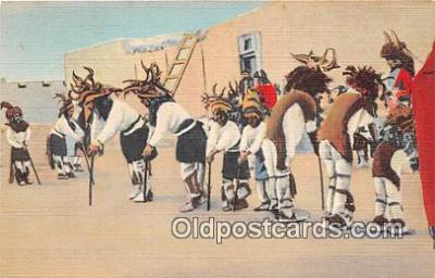 Pueblo Indians, Rehearsing for the Deer Dance