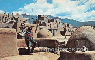 ind200837 - Taos Pueblo Taos, New Mexico, USA Postcard Post Cards