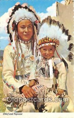 ind300045 - Chief & Papoose Havre, Montana, USA Postcard Post Cards