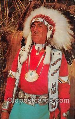 ind300101 - Indian Chief Photo by Franklin Photo Agency Postcard Post Cards