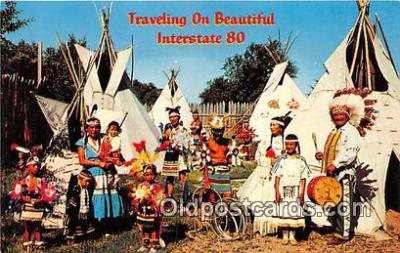 ind300215 - Indian Villages North Platte, Nebraska, USA Postcard Post Cards