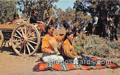 ind300225 - Navajo Indian Life Color Courtesy Santa Fe Railway Postcard Post Cards