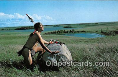 ind300242 - Legendary Prayer Rock Sioux Indians Thunderbird God Postcard Post Cards