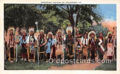 ind300277 - Comanche Indians Oklahoma, USA Postcard Post Cards