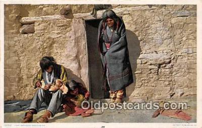 Hopi Mending Moccasins