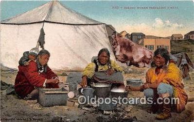 Eskimo Women Preparing a Meal