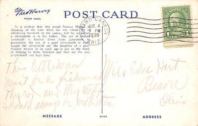 ind402063 - Indian Old Vintage Antique Postcard Post Card  back