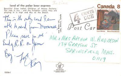 ind402127 - Indian Old Vintage Antique Postcard Post Card  back