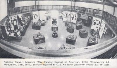 int001025 - The Carving Capitol of America, Monument, Colorado, USA Store Interior Postcard Postcards