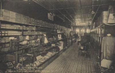 int001026 - L.T. Whitney & Co.Oberlin, Ohio, USA Store Interior Postcard Postcards