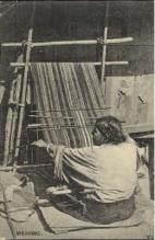 ind000026 - Weaving, Indian, Indians, Postcard Postcards